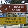 Alligator Gorge turnoff